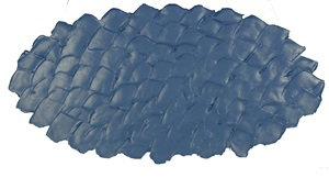 essenziale blu ovale by antonio scaccabarozzi