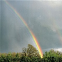 rainbow and oak, oregon by christopher burkett