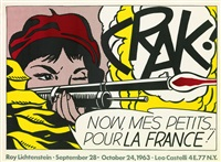 crak! now mes petits... pour la france! by roy lichtenstein