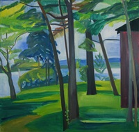 maine landscape iii by louisa matthiasdottir
