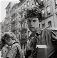turk leclair, macdougal street, new york by larry fink