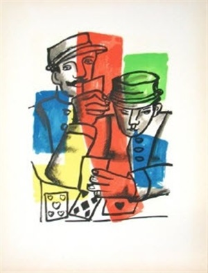 les soldats (soldiers), from la ville series by fernand léger