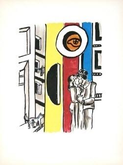 les amoureux dans la rue (lovers in the street, from la ville series) by fernand léger