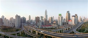 shanghai city panorama, shanghai, china by edward burtynsky