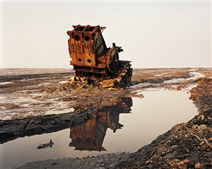 "shipbreaking #36, chittagong, bangladesh"" by edward burtynsky"