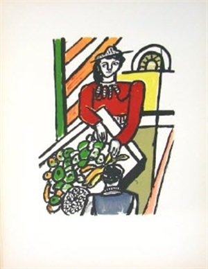 la marchande des quatre saisons (the merchant of four seasons, from la ville series by fernand léger