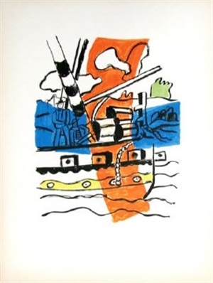 le remorqueur (the tug), from la ville series by fernand léger