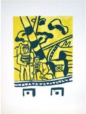 les marins (the sailors), from la ville series by fernand léger