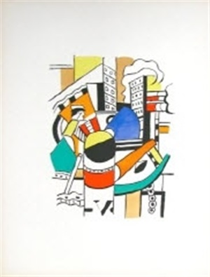 le remorqueur dans la ville (the tug in the city) by fernand léger