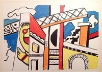le viaduct, from la ville series by fernand léger