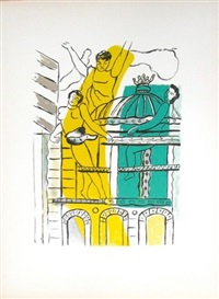 l'opéra, from la ville series by fernand léger