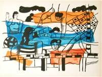 la piscine, from la ville series by fernand léger