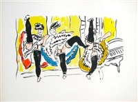 le french cancan, from la ville series by fernand léger