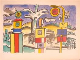 la pompe à essence, from la ville series by fernand léger