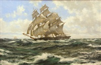steady winds - prima donna by montague dawson
