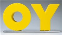 oy/yo yellow by deborah kass