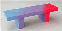 pink to blue bench 1 by andrew schoultz