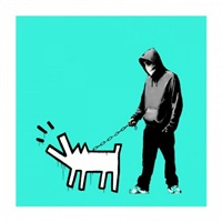 choose your weapon (turquoise) by banksy