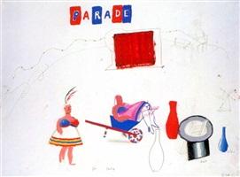 "fat lady from ""parade triple bill"" by david hockney"
