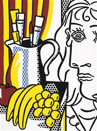 stilleben mit picasso by roy lichtenstein