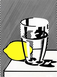 stilleben mit zitrone und glas (von meyer shapiro) by roy lichtenstein
