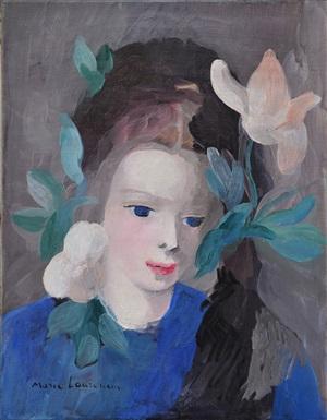jeune fille aux fleurs by marie laurencin