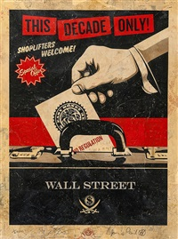 shoplifters welcome hpm (red) by shepard fairey