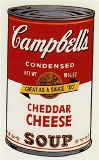campbell's cheddar cheese soup by andy warhol