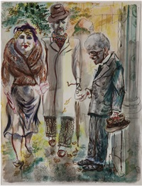 strassenszene berlin (the green dress) by george grosz