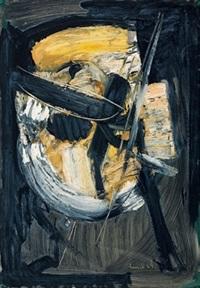 komposition gelb/schwarz by carl walter liner