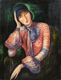 portrait of a lady (elisabeth starosta) by albert birkle