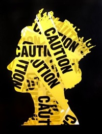 elizabeth (caution) by mr. brainwash