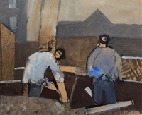 workers by keith vaughan