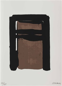 serigraphie no. 10 (from sur le mur d'en face) by pierre soulages