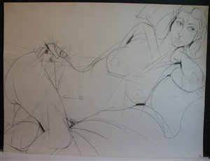 untitled (valerie reclining) by fritz bultman