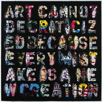 art cannot be criticized because every mistake is a new creation by mr. brainwash