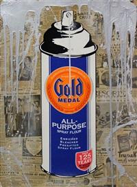 gold spray flour by mr. brainwash