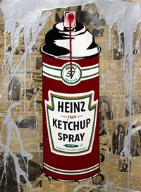 heinz ketchup spray by mr. brainwash