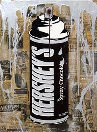 hershey's spray chocolate by mr. brainwash
