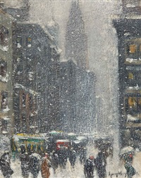 winter in new york by guy carleton wiggins