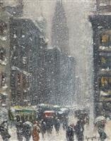 winter in new york by guy carleton wiggins