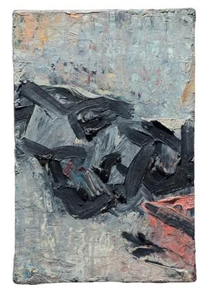 brigid in bed by frank auerbach