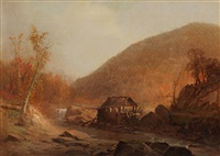 the old mill by jervis mcentee