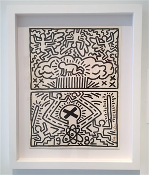 poster for nuclear disarmament by keith haring