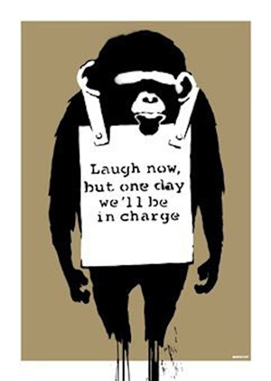 laugh now unsigned by banksy