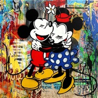 mickey & minnie #7 by mr. brainwash