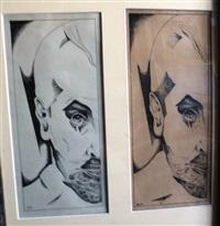 portrait of artist alexander iacovleff by yury annenkov
