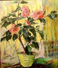 the pink camellia by natalia sergeevna goncharova