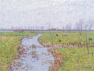 landschaft bei sluis by paul baum