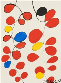 many loops, one black by alexander calder